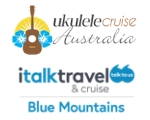 SPRUKE 2019 MAJOR FUNDRAISING SPONSOR Ukulele Cruise Australia and italk travel Blue Mountains