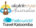 SPRUKE 2017 MAJOR FUNDRAISING SPONSOR Ukulele Cruise Australia and helloworld Travel Katoomba