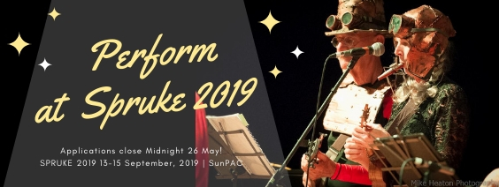 Applications are open to perform at SPRUKE Brisbane's Ukulele Festival 2019 at SunPAC. Be quick you've got to midnight 26 May!